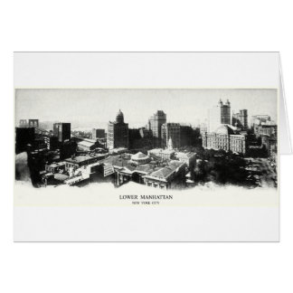 1898 New York Panorama Greeting Card