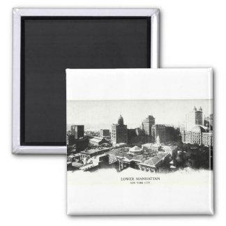 1898 New York Panorama Fridge Magnets