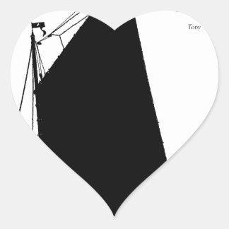 1898 Norfolk Wherry - tony fernandes Heart Sticker
