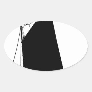 1898 Norfolk Wherry - tony fernandes Oval Sticker