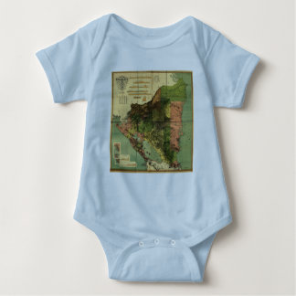1898 Official Map of Nicaragua Baby Bodysuit