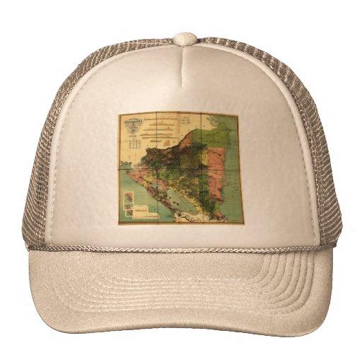1898 Official Map of Nicaragua Trucker Hats