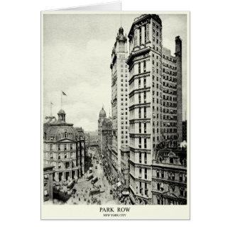 1898 Park Row, New York City Greeting Card
