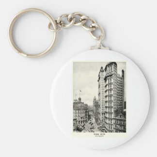 1898 Park Row, New York City Basic Round Button Key Ring