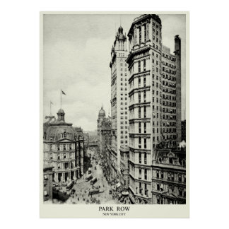 1898 Park Row, New York City Poster