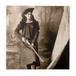 1898 Photo of Miss Annie Oakley Holding a Rifle