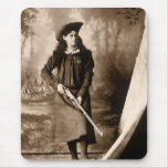 1898 Photo of Miss Annie Oakley Holding a Rifle Mousemats
