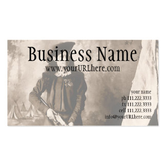 1898 Photo of Miss Annie Oakley Holding a Rifle Pack Of Standard Business Cards