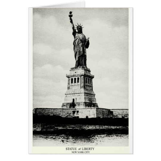 1898 Statue of Liberty Card