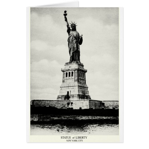 1898 Statue of Liberty Greeting Card