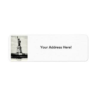 1898 Statue of Liberty Return Address Label