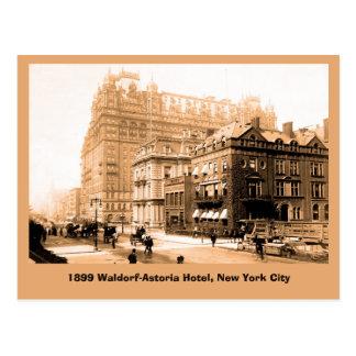 1899 Art photo Waldorf Astoria Hotel, New York Postcard