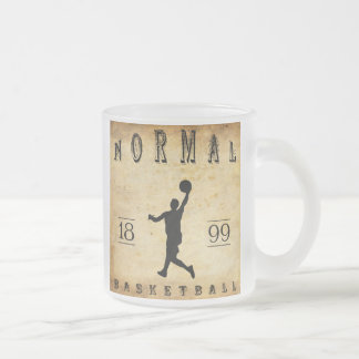 1899 Normal Illinois Basketball Frosted Glass Coffee Mug