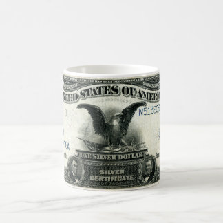 1899 One Dollar US Silver Certificate Mugs