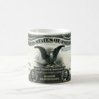 1899 One Dollar US Silver Certificate Mugs
