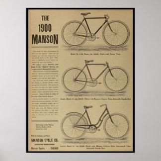 1899 Vintage Bicycle Magazine Ad Art Poster