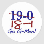 18-1 Go G-Men Round Stickers