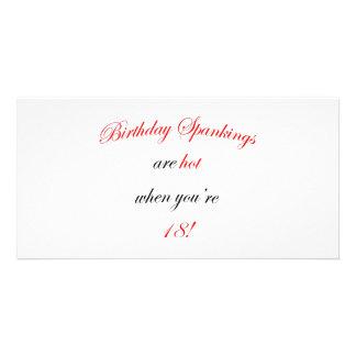 18 Birthday Spanking Customized Photo Card