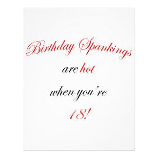 18 Birthday Spanking Full Color Flyer