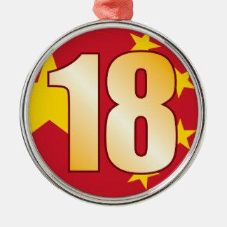 18 CHINA Gold Christmas Ornament