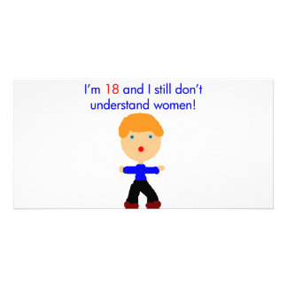 18 Don t understand women Picture Card