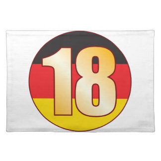 18 GERMANY Gold Placemat