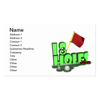 18 Holes Pack Of Standard Business Cards