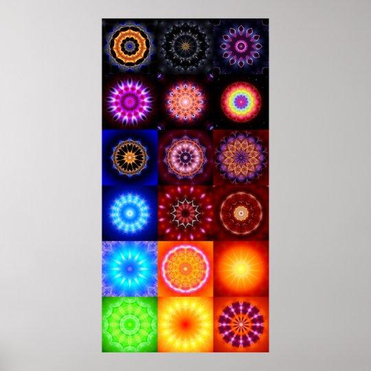 18 Mandalas Poster