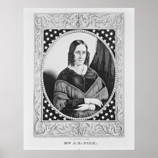 18 Mrs. JK Polk Poster
