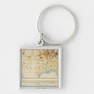 18 Natives of Great Britain 1890 Key Ring