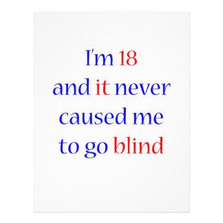 18 never gone blind 21.5 cm x 28 cm flyer