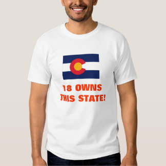 18 OWNS THIS STATE! T SHIRT