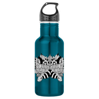 18 oz water bottle with lotus