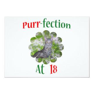 18  Purr-fection 13 Cm X 18 Cm Invitation Card