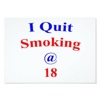 18  Quit Smoking 13 Cm X 18 Cm Invitation Card