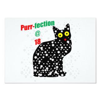 18 Snow Cat Purr-fection 13 Cm X 18 Cm Invitation Card
