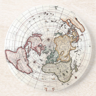 18 th Century Polar Map Drink Coaster