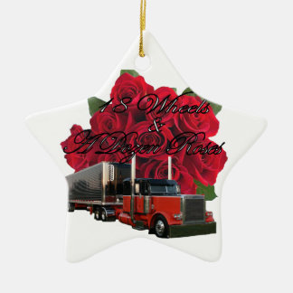 18 Wheels and a Dozen Roses Christmas Ornament
