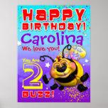 "18 x24 "" GiggleBellies BeeWee Birthday Poster"