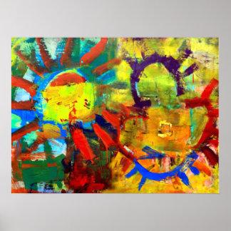 "18""x24"" Primordial Sun Poster"