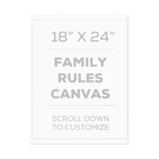 "18"" x 24"" Family Rules Canvas"
