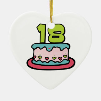 18 Year Old Birthday Cake Christmas Ornament