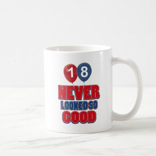 18 year old birthday designs mug