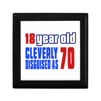 18 year old cleverly disguised as 70 small square gift box