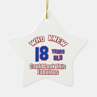 18 year old look fabulous ceramic star decoration