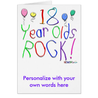18 Year Olds Rock Greeting Cards