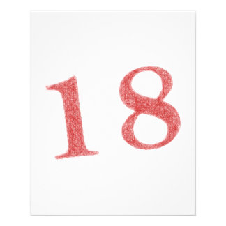 18 years anniversary 11.5 cm x 14 cm flyer