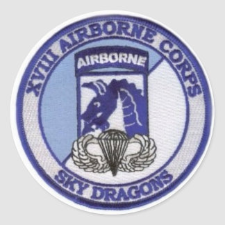 18th  Airborne Classic Round Sticker