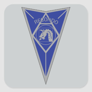 18th Airborne Recondo - Fort Bragg - Infantry Blue Square Sticker
