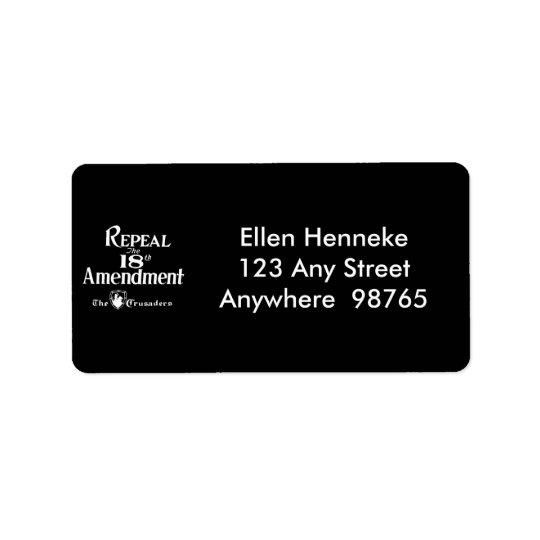 18th Amendment Address Label